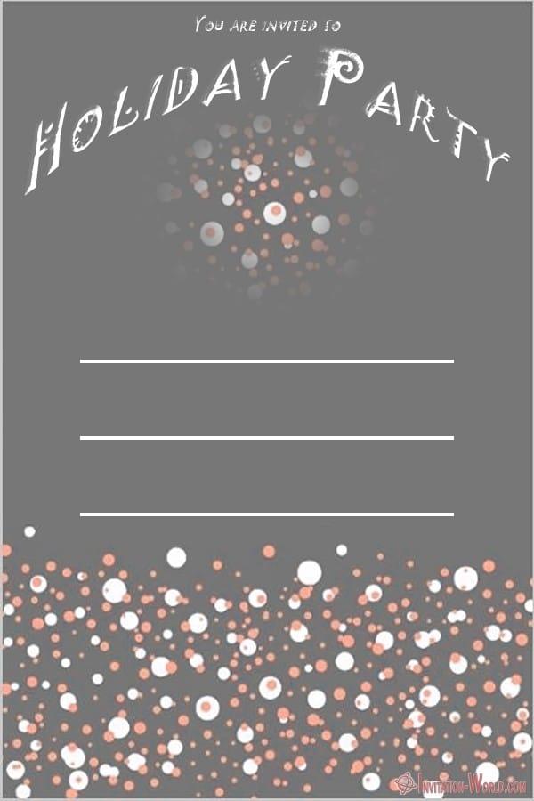 Custom Holiday Party Invitation - Custom Holiday Party Invitation