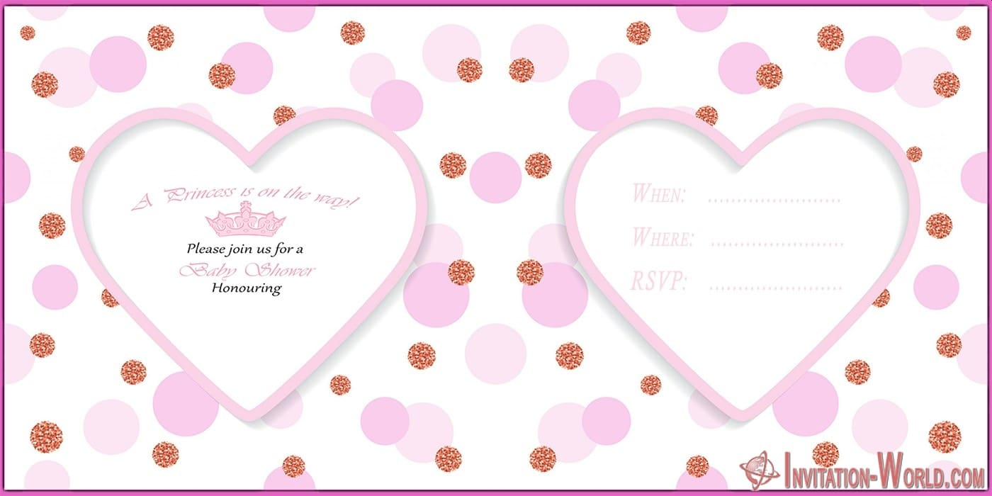 Cute Pink Baby Shower Invitation Card - Cute Pink Baby Shower Invitation Card