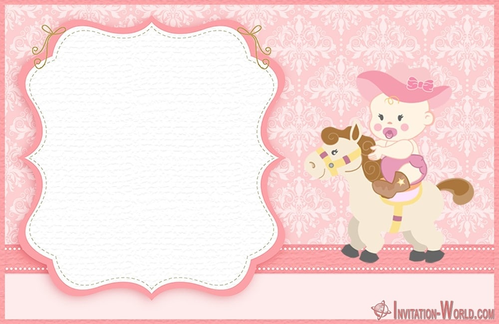 Cute Template for Baby Shower Invitation 150x150 - Cute Pink Baby Shower Invitation Card