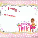 Disney Fancy Nancy birthday invitation
