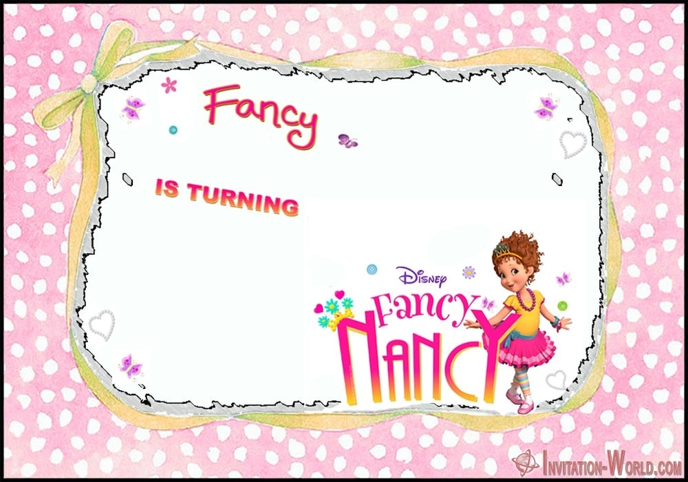 Disney Fancy Nancy birthday invitation - Download Fancy Nancy Invitation Templates