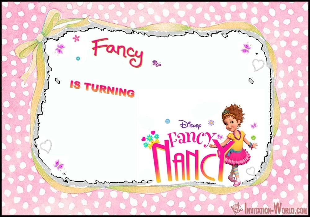 Disney Fancy Nancy birthday invitation - Download Fancy Nancy Invitation Templates