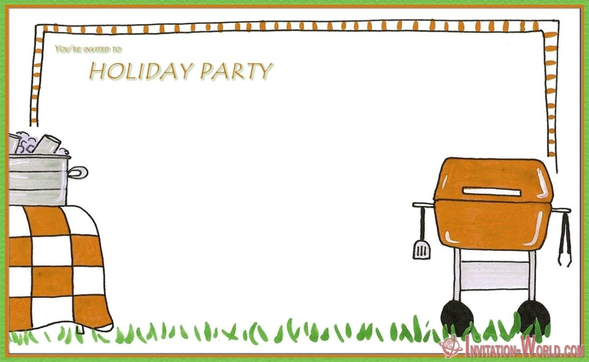 Editable Invitation 1200x738 - Holiday Party Invitations FREE Templates