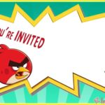 Empty Angry Birds Invitation