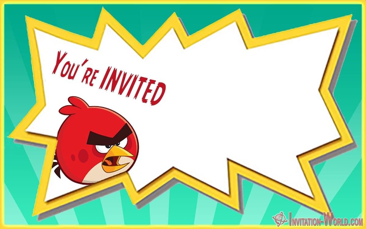 Empty Angry Birds Invitation - Empty Angry Birds Invitation
