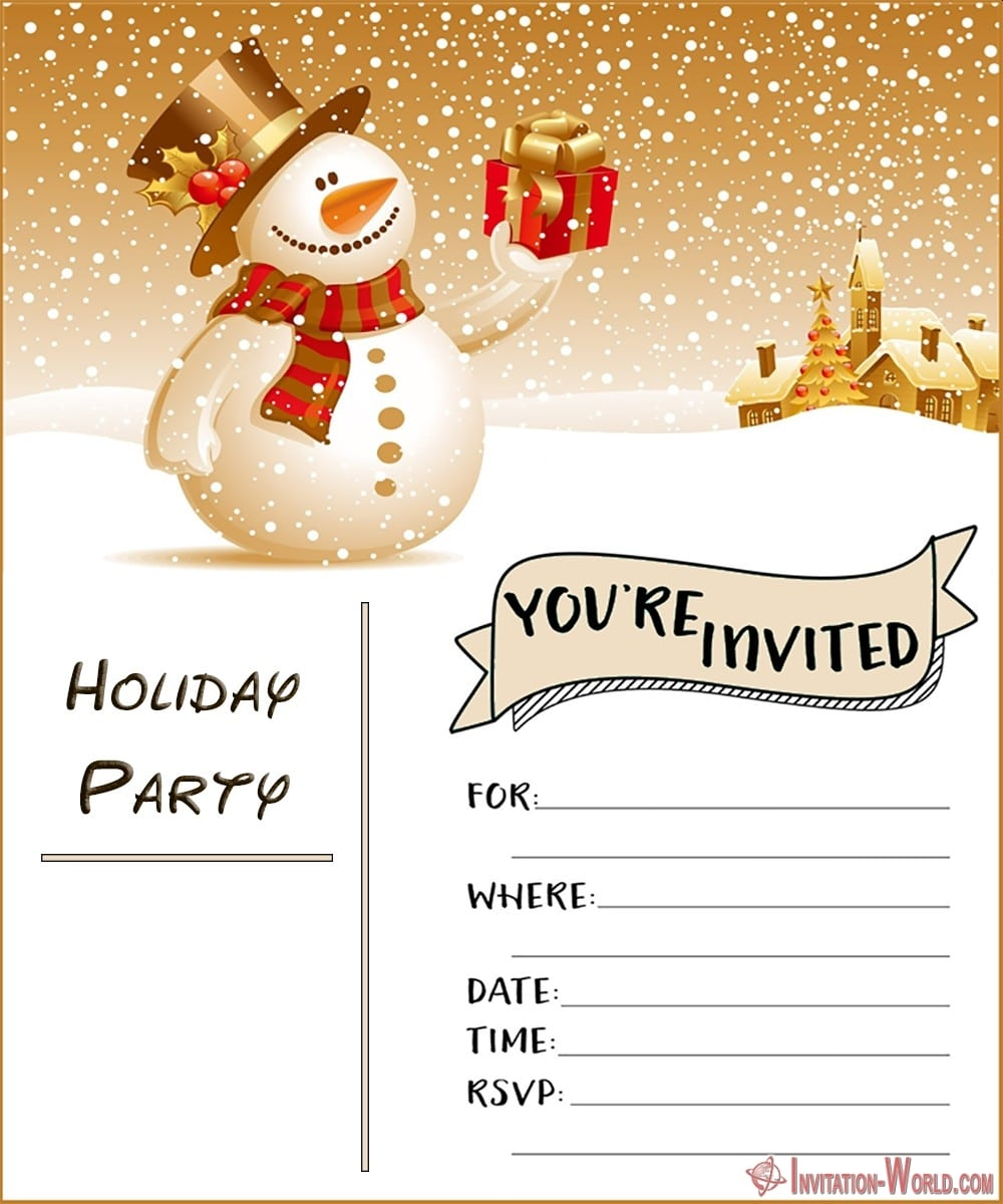 FREE Invitation Template 1000x1200 - Holiday Party Invitations FREE Templates