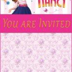 Fancy Nancy birthday party invitation