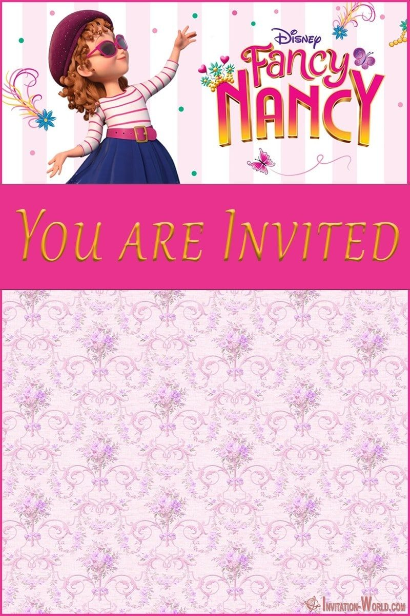Fancy Nancy birthday party invitation 800x1200 - Download Fancy Nancy Invitation Templates