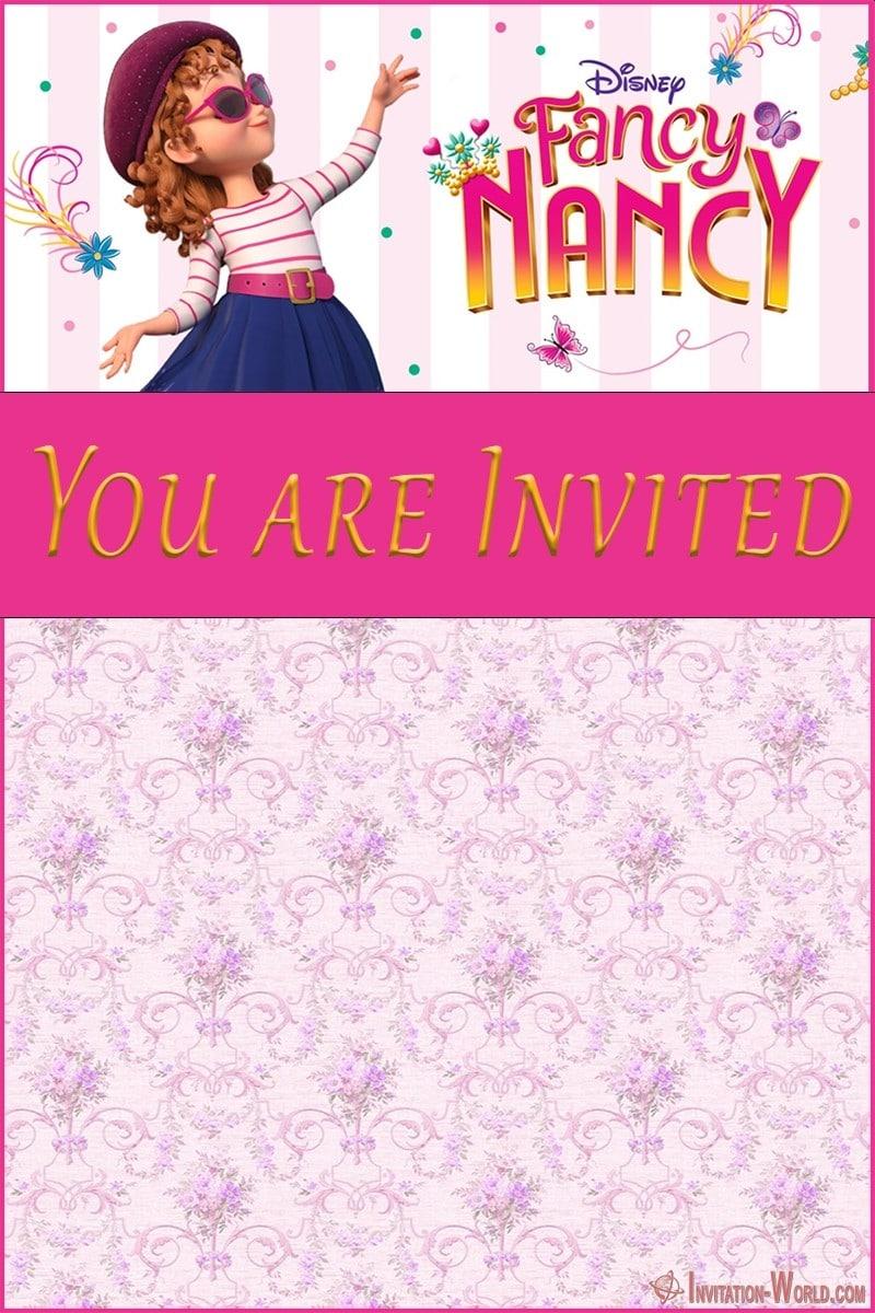 Fancy Nancy birthday party invitation 800x1200 - Download Fancy Nancy Invitation Templates