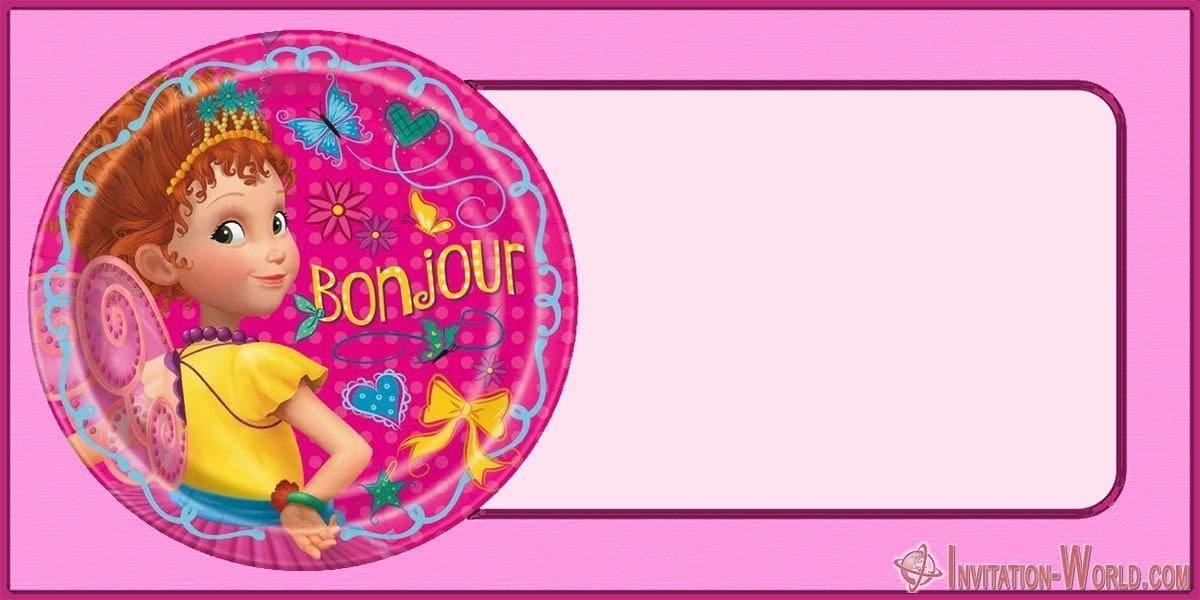 Fancy Nancy online invitation card - Fancy Nancy online invitation card