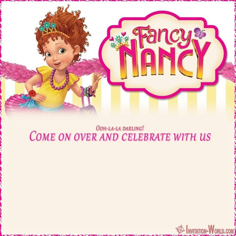 Fancy Nancy party invitations template - Download Fancy Nancy Invitation Templates