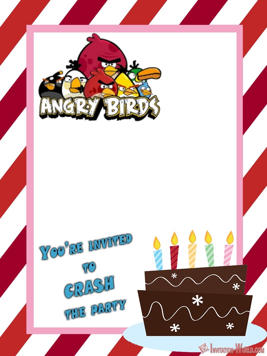 Free Angry Birds Birthday Invitation - 8+ Free Angry Birds Invitation Templates
