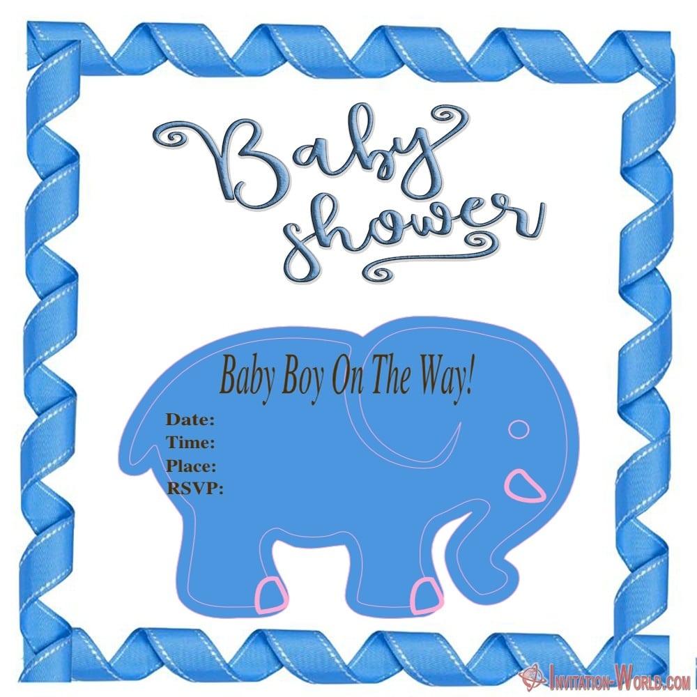 Free Baby Shower Invitation for boy - 9+ Custom Baby Shower Invitations for Boys