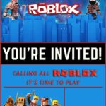 Free Online Roblox Birthday Invitation
