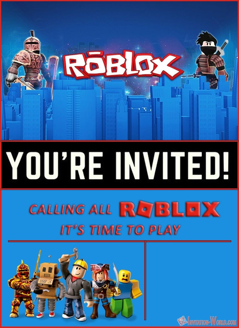 Free Online Roblox Birthday Invitation - Roblox Birthday Party Invitations