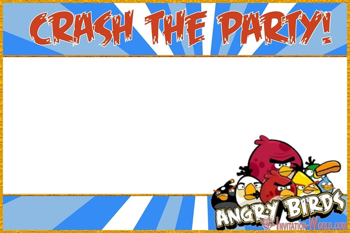 Free Printable Angry Birds Invitation 1200x800 - 8+ Free Angry Birds Invitation Templates