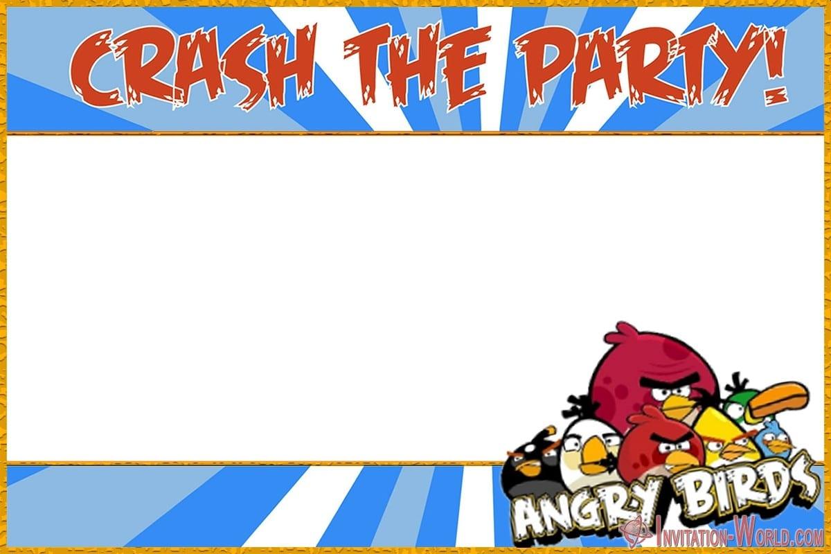 Free Printable Angry Birds Invitation 150x150 - Angry Birds Invitation Template
