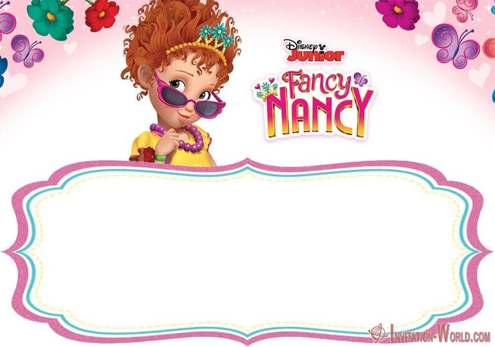 Free Printable Fancy Nancy Invitation - Download Fancy Nancy Invitation Templates