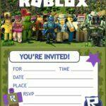 Free Printable Roblox Birthday Invitation Template