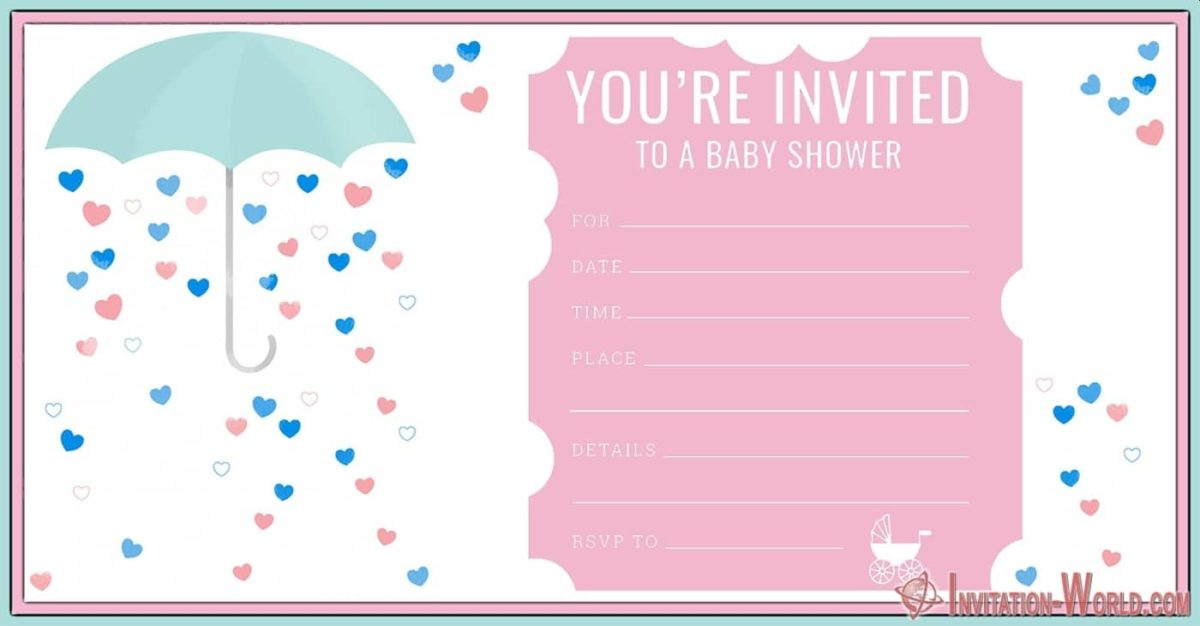 Free Printable Shower Invitation 1200x626 - Baby Shower Invitations for Girls - 12 Unique Templates