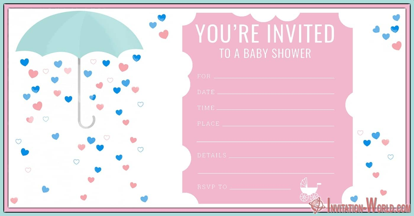 Free Printable Shower Invitation 150x150 - Its a Girl Free Template for Baby Shower