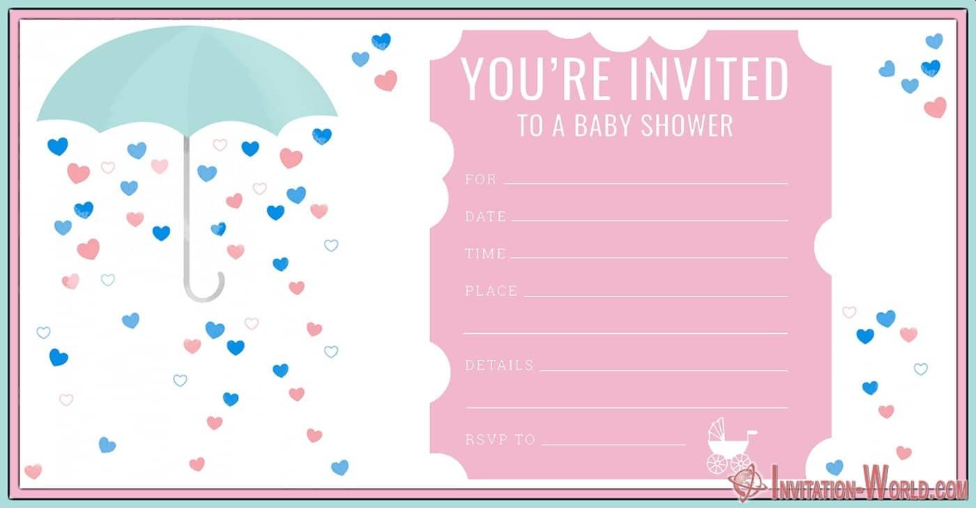 Free Printable Shower Invitation - Free Printable Shower Invitation