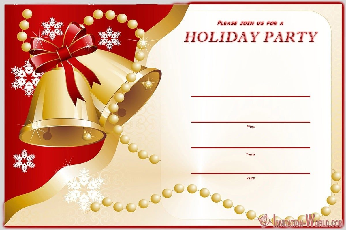 Holiday Party Invitation FREE 1200x800 - Holiday Party Invitations FREE Templates