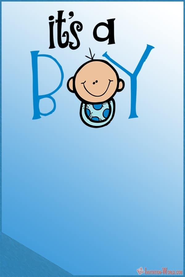 Its a boy template - 9+ Custom Baby Shower Invitations for Boys