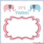 Its twins – Baby shower invitation