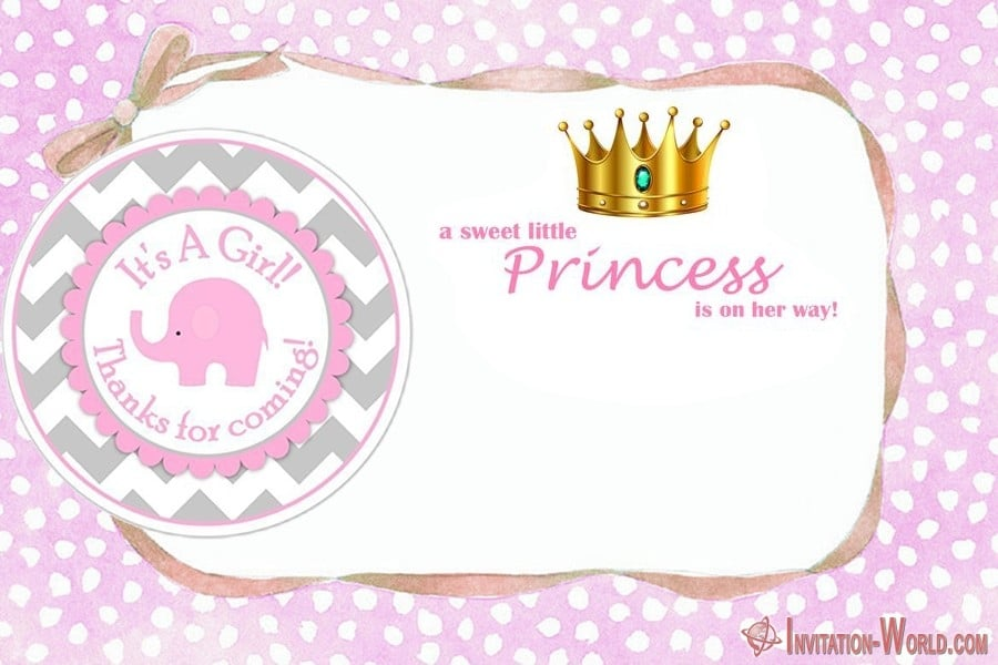 Little Princess Shower Invitation - Baby Shower Invitations for Girls - 12 Unique Templates