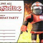 Roblox Birthday Invitation Card