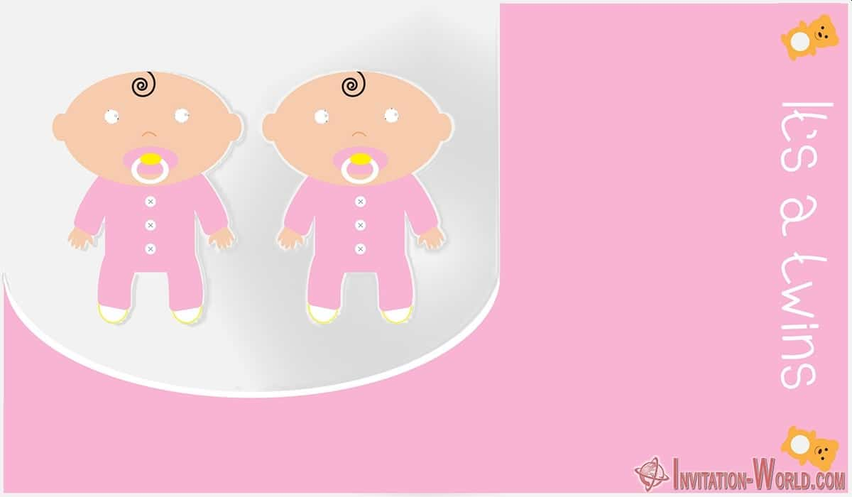 Twins Baby Shower Free Template 1200x700 - Couples Shower Invitation Cards