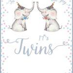 Twins Baby Shower Invitation Card 150x150 - Twins Baby Shower Invitation