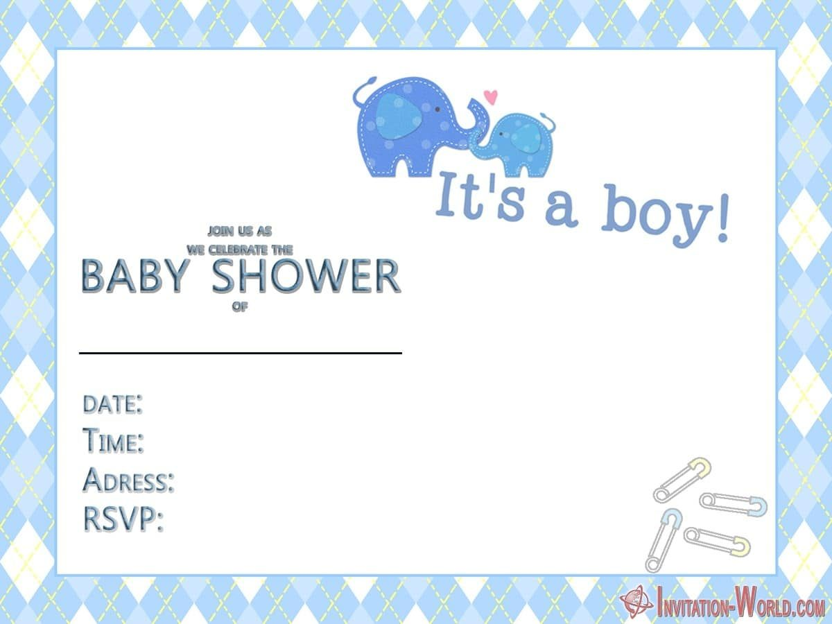 baby shower invitation for boy 1200x900 - 9+ Custom Baby Shower Invitations for Boys