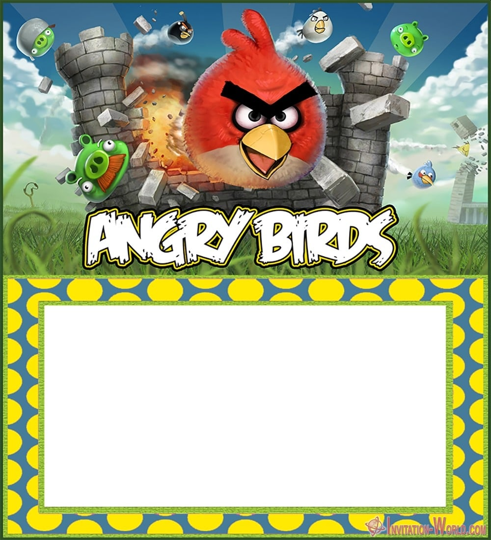 Angry Birds Invitation Template 150x150 - Free Printable Angry Birds Invitation