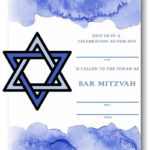 Bar Mitzvah invitation Template Free