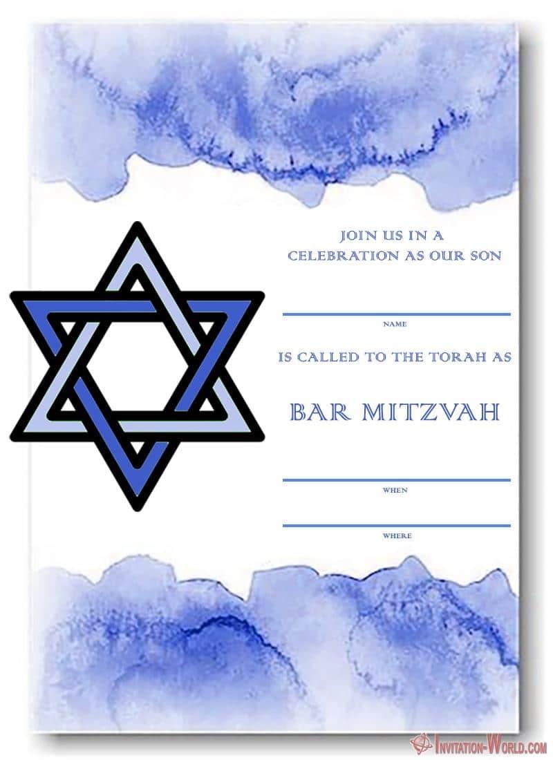 Bar Mitzvah invitation Template Free - Bar Mitzvah Invitation Templates - Easy to customize