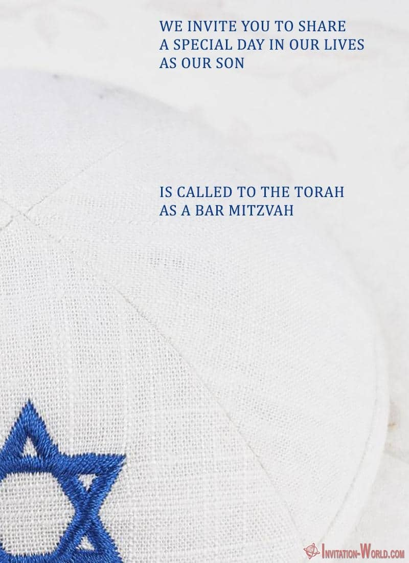 Bar Mitzvah invitation template - Bar Mitzvah Invitation Templates - Easy to customize