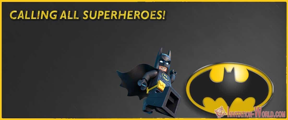 Batman Birthday Party Invitation - Batman Birthday Party Invitation