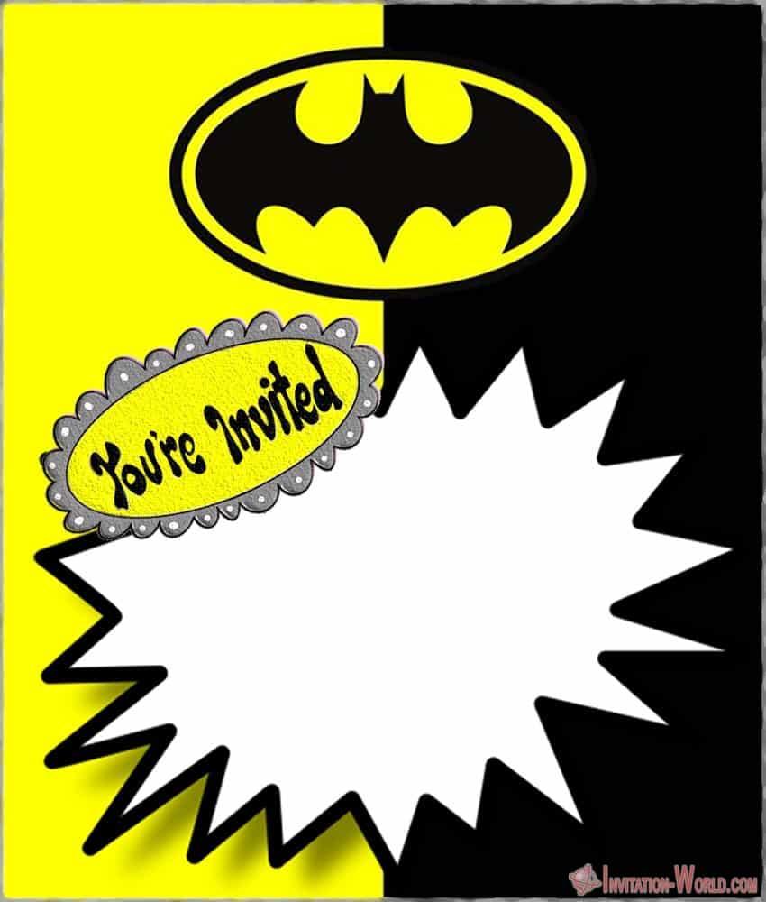 Custom Batman Invitation Template - Free Printable Batman Invitation Templates