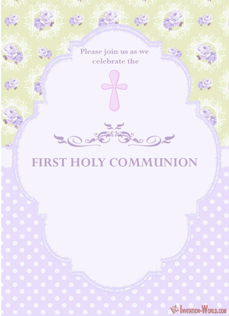 First Holy Communion Invitation Free - First Communion Invitation Cards