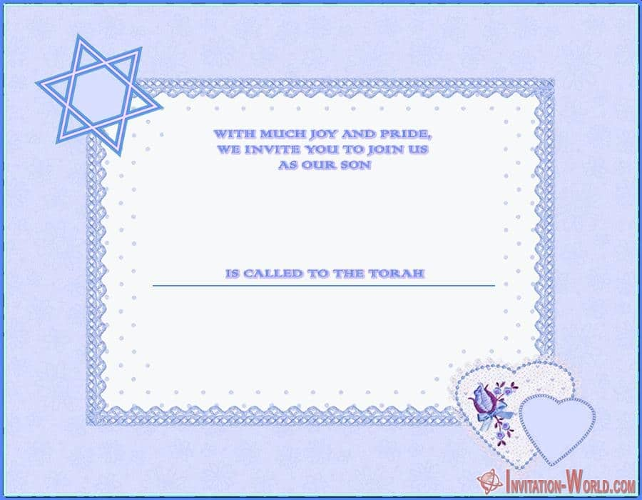 Free Bar Mitzvah invitation - Bar Mitzvah Invitation Templates - Easy to customize