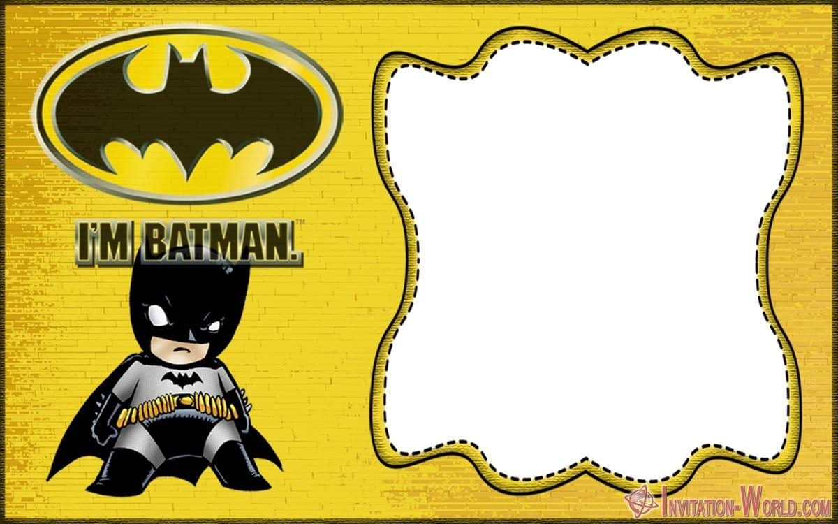 Free Batman Invitation Template 1200x750 - Free Printable Batman Invitation Templates
