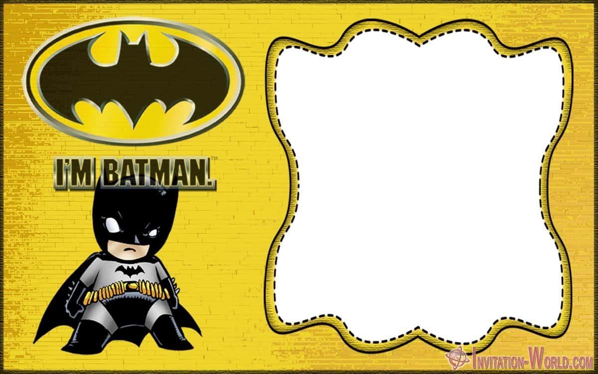 Free Batman Invitation Template - Free Batman Invitation Template