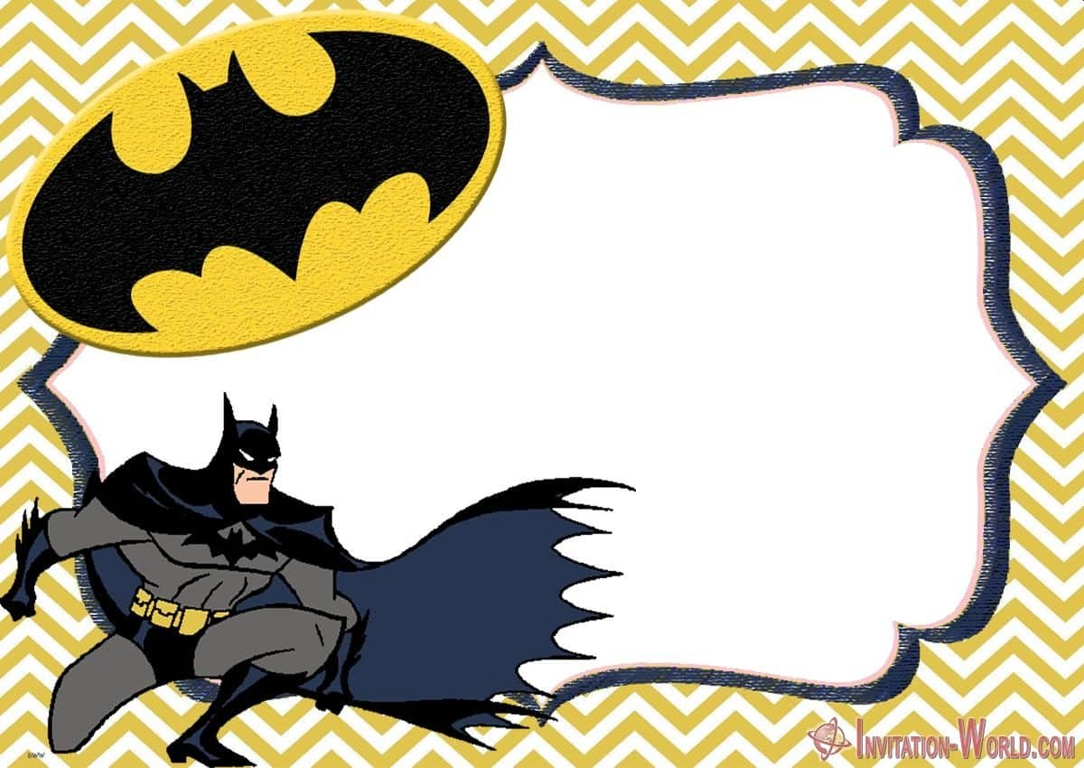 Free Online Batman Invitation 1200x850 - Free Printable Batman Invitation Templates