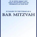 Free Printable Bar Mitzvah invitation template