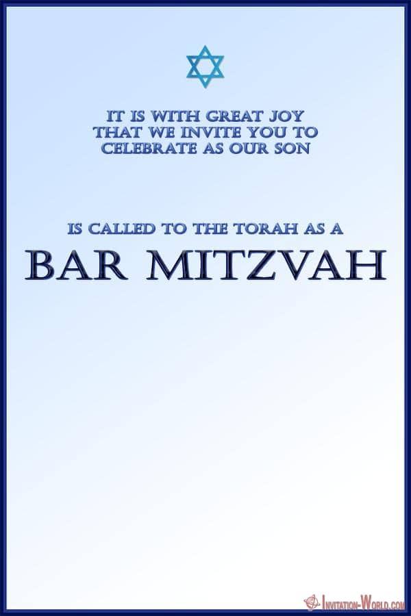 Free Printable Bar Mitzvah invitation template - Bar Mitzvah Invitation Templates - Easy to customize
