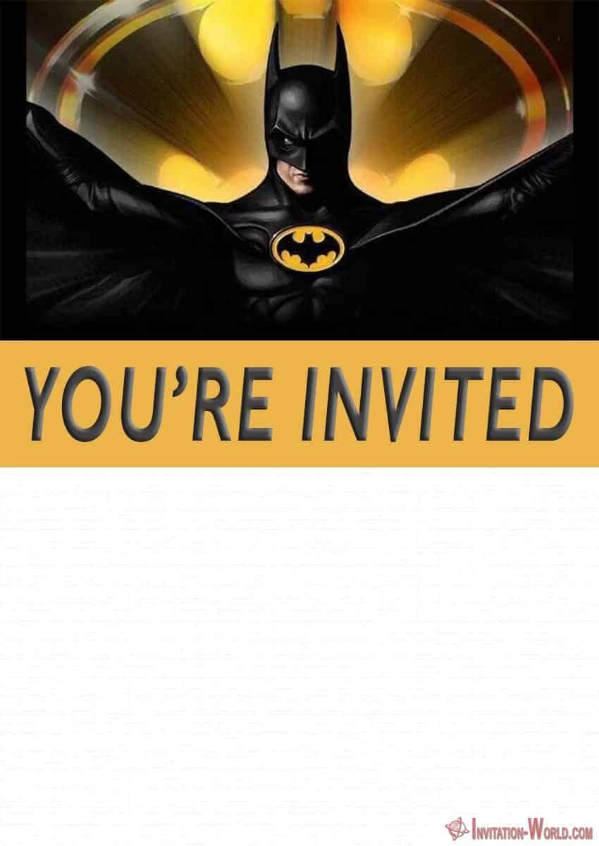 Free Printable Batman Invitation Template 850x1200 - Free Printable Batman Invitation Templates