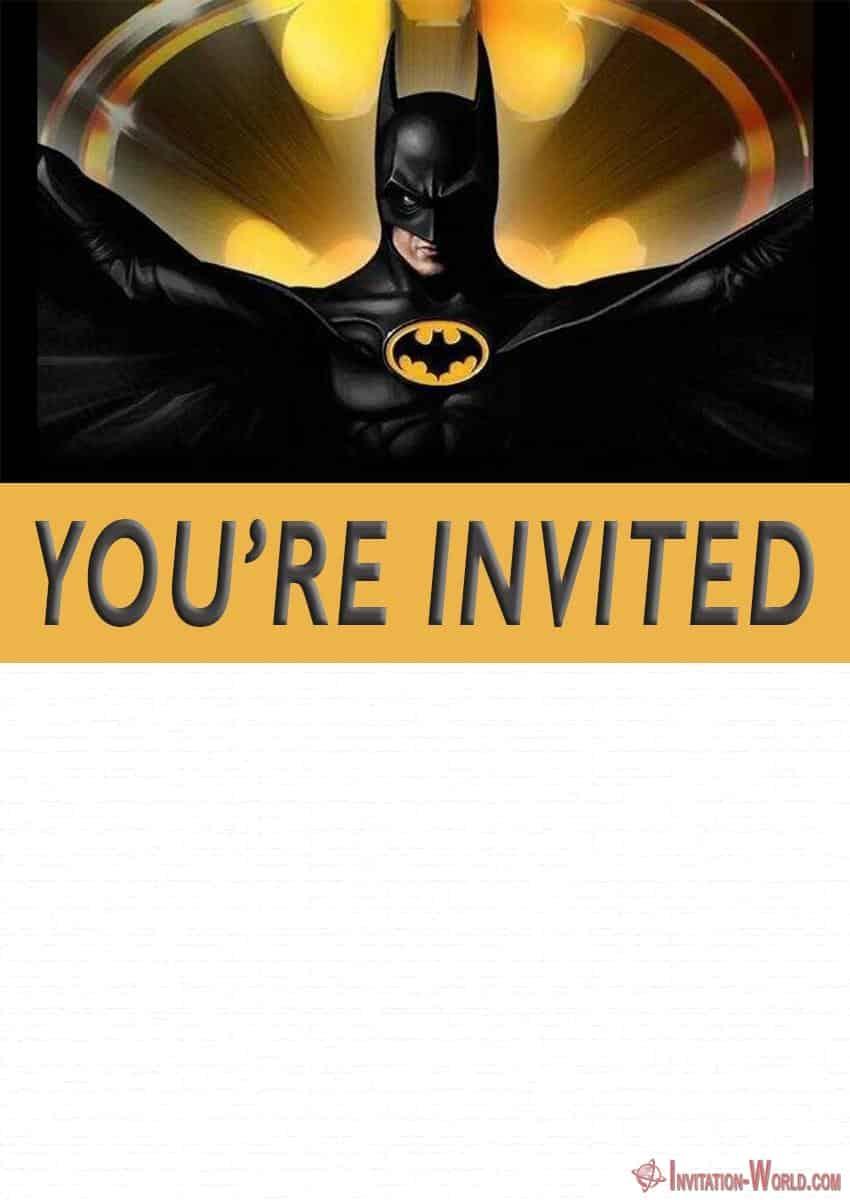 Free Printable Batman Invitation Template 850x1200 - Free Printable Batman Invitation Templates