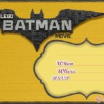 Free Printable Lego Batman Invitation